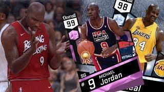 NBA 2K17 My Team - Pink Diamond MJ Cradle Dunk! PS4 Pro 4K