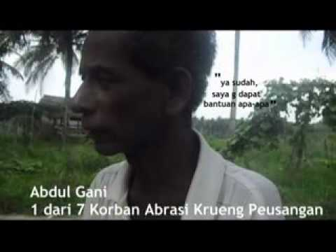 Korban Abrasi Krueng Peusangan, Bireun, Aceh Province
