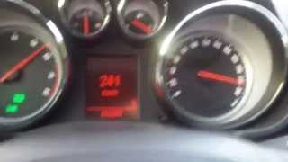 Insignia 1.6 Turbo 180 hp ile 242 km/h son hız denemesi / top speed test.