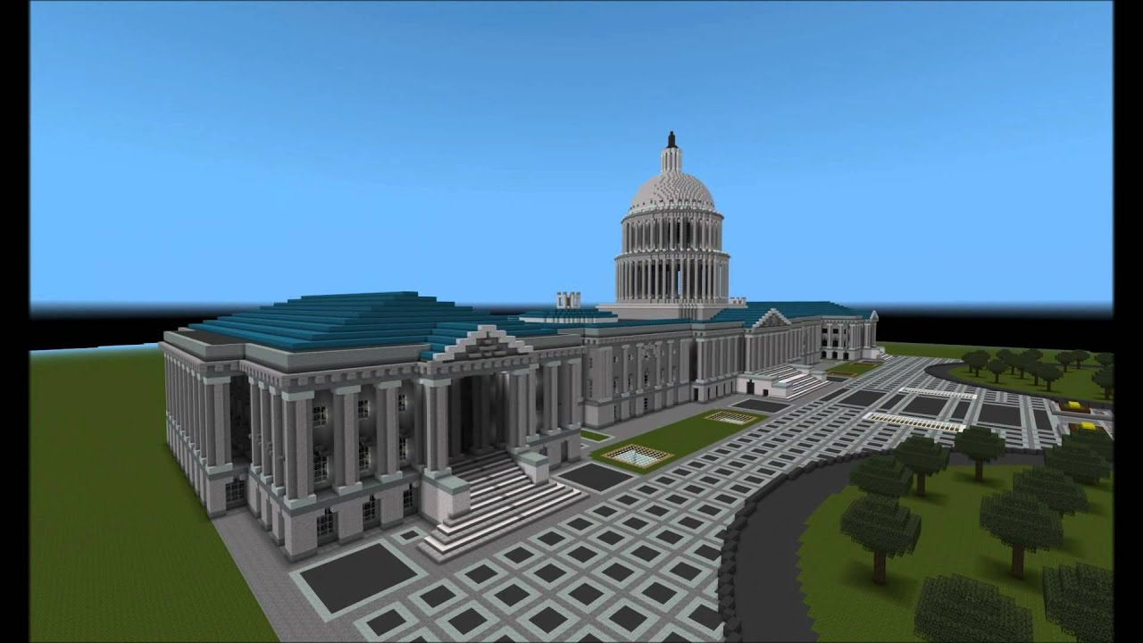 Minecraft EPIC BUILDING US CAPITOL YouTube