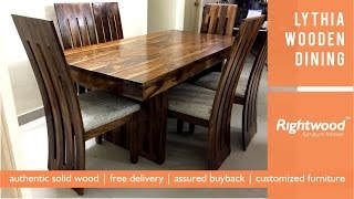 Wooden dining table set LYTHIA- Rightwood furniture