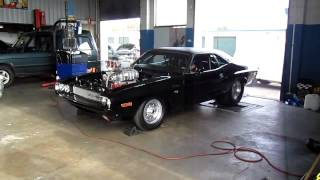 1600hp Dodge Challenger dyno run ,Australia