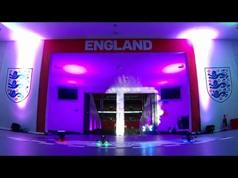 Drone Racing at Wembley Stadium   live streamed over 4G