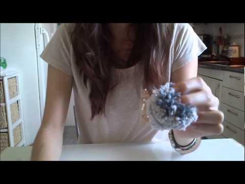C mo hacer pompones de lana youtube - Como hacer alfombras de lana ...