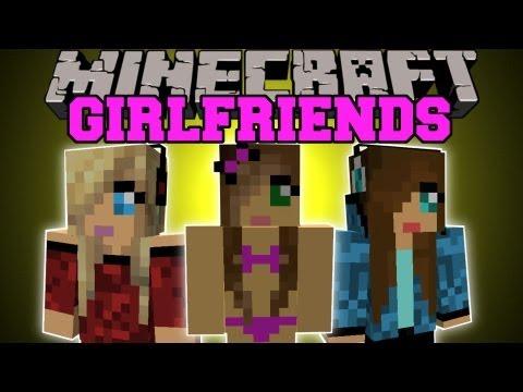 Minecraft: GIRLFRIENDS! (GIRL FIGHTS. BIKINIS. DANCING) Girlfriends Mod Showcase