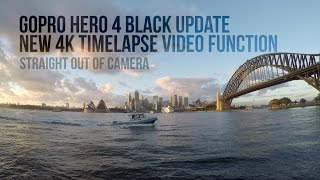 GoPro Hero 4 black new 4K timelapse video function - Straight out of camera sunrise