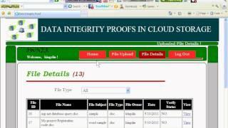 DATA INTEGRITY PROOFS IN CLOUD STORAGE.wmv