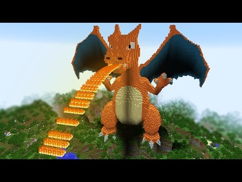 MINECRAFT vs POKEMON GO : GIGA CHARIZARD VS REZENDE!!