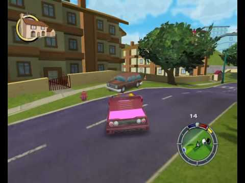 Simpsons Hit&Run - Crazy Mad Ferrari with pink wheels (HQ) Video