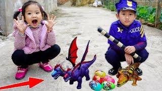 Trò Chơi Giải Cứu Khủng Long Đẻ Trứng Khỏi Cá Sấu - Bé Nhím TV - Đồ Chơi Trẻ Em Thiếu Nhi