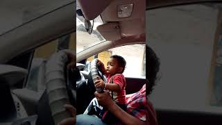 Small baby car driving