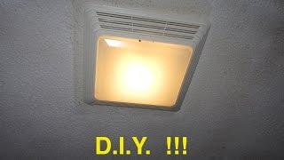 Installing a BATHROOM FAN / light - EZ