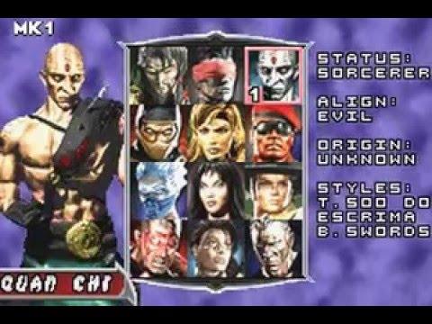 Mortal kombat deadly alliance character select