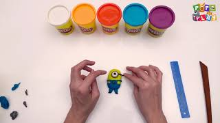 Play Doh Modelling with Clay for Kids PoPoPlay Kids Videos DIY Play Doh Cute Minion
