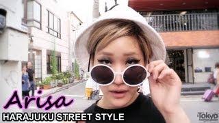Arisa - Crop Top, Joyrich, ANAP & Round Sunglasses - Harajuku Fashion / 原宿ファッション