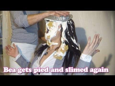 Bea gets pied and slimed again