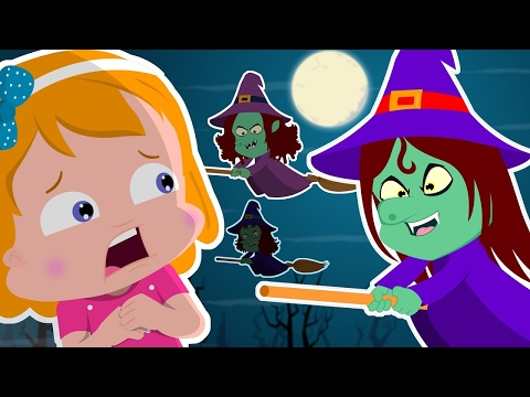 Flying Witches | Umi Uzi  Scary Nursery Rhymes | Video For Kids