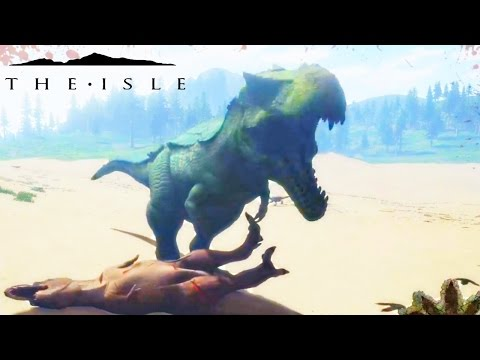 The Isle - BARYONYX PREVIEW, HYPO REX VS REX PACK  & HYPERENDOCRINE REX PERSPECTIVE ( Gameplay )