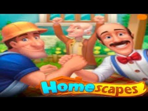 HomeScapes Дворецкий Остин #52 (уровни 300-305) Живая Изгородь Детское Игровое видео как Мультик