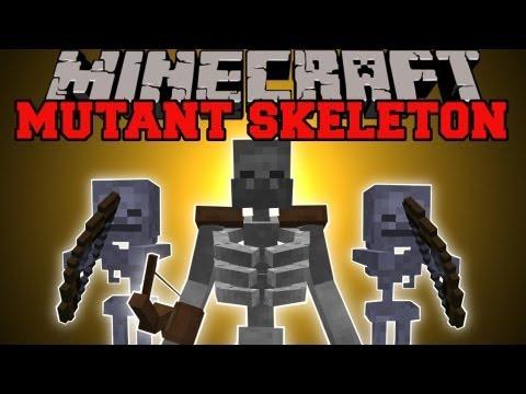 Minecraft: MUTANT SKELETON MOD (MASSIVE SKELETON WITH EPIC ABILITIES!) Mutant Skeleton Mod Showcase