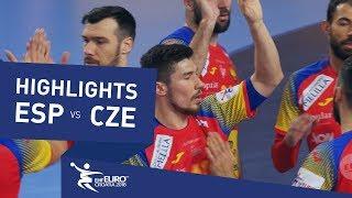 Highlights   Spain vs Czech Republic   Men's EHF EURO 2018