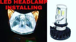 LED HEADLAMP INSTALLING   RTD M:02E   TVS JUPITER