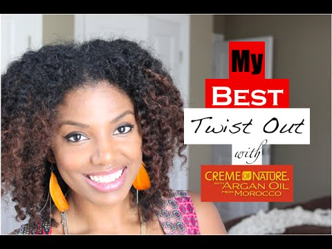 Wash n Go to Twist Out   Creme of Nature Argan Oil
