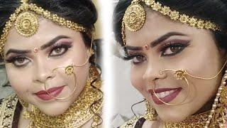 Advance bridal Makeup कैसे करे Step by step ( Hindi ) (Kryalon supra) (For dry skin )