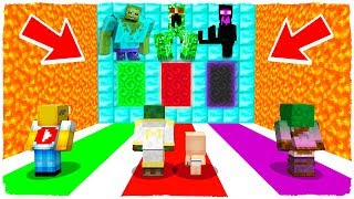 DO NOT CHOOSE THE WRONG DIMENSION! Zombie, Creeper and Enderman MUTANTES in Minecraft