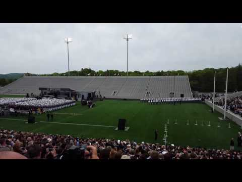 West Point graduation: the Vice President comes in