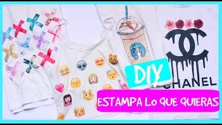 DIY estampa lo que quieras