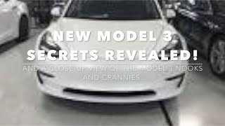 Details of the Tesla Model 3 revealed! And a look into the nooks and crannies.