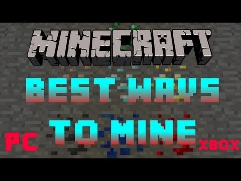 Minecraft - How to Mine Coal, Diamond, Iron, Gold - (Best and Most Efficient Methods!) - PC/Xbox/PE