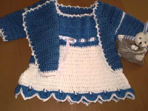 Ropa de Bebés en Crochet. - YouTube