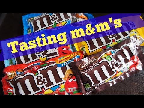Tasting M&M's flavors | Whatcha Eating? #133