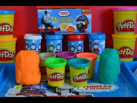 Play-doh Surprise Eggs Thomas And Friends Play-doh Pot Surprise Thomas The Tank Percy Mavis 托马斯&朋友 video