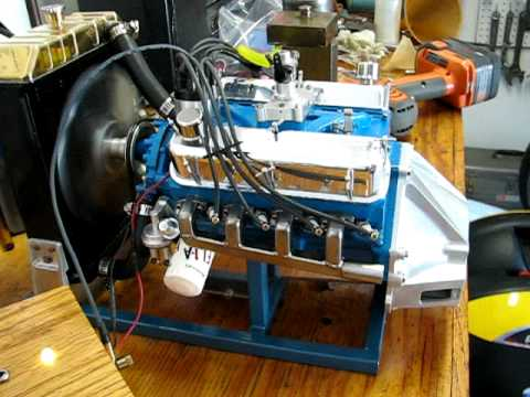 1/3 scale 302 Ford V8 running
