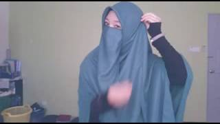 Hijab kren ala Wanita Bercadar. Tertutup tpi ttp cantik