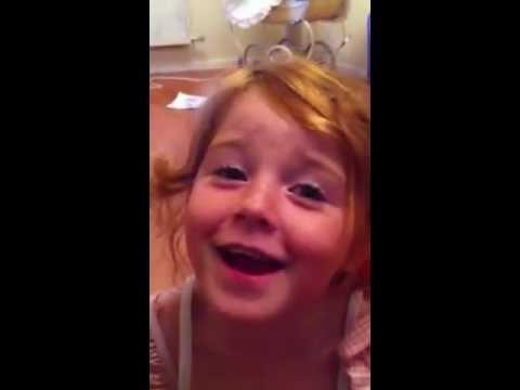 Ella singing harvest festival song (cauliflower's fluffy!)