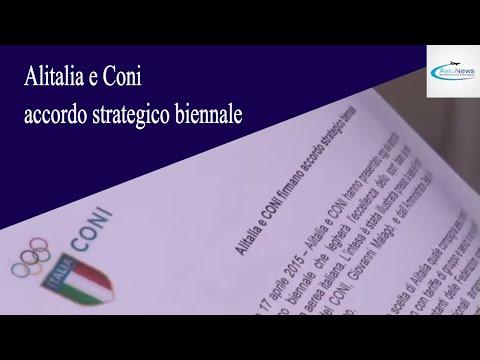 Alitalia e Coni accordo strategico biennale