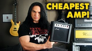 Recording with the Cheapest Guitar Amp I could find! - Demo / Review