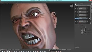 MUDBOX 2015 HEAD and FACE sculpting, detailing, and painting tutorial