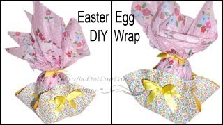 How to Gift Wrap Easter Egg - Tutorial