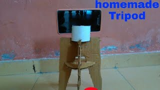 How to make a Tripod with cardboard at home