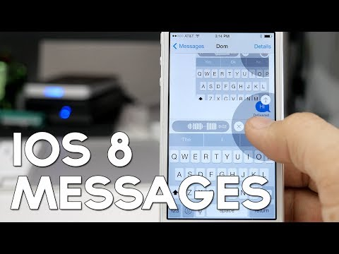 iOS 8 New Features: Messages App - Tap To Talk, Video Message, And More!