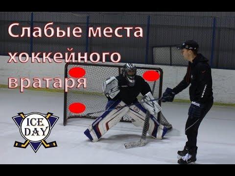 Куда бросать хоккейному вратарю? Слабые места