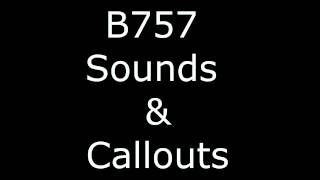 Boeing 757 Callouts and Sounds