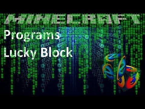 PROGRAMS LUCKY BLOCK - MINECRAFT 1.8.9 (MOD SHOWCASE)