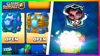 Clash Royale OMG DOUBLE LEGENDAIRE ! Pack Opening x2 Coffre de Clan !
