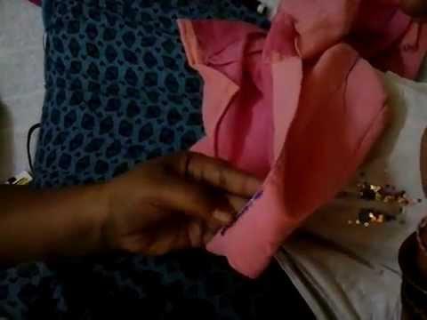 How to Stitch Chamki Work in telugu Explanation